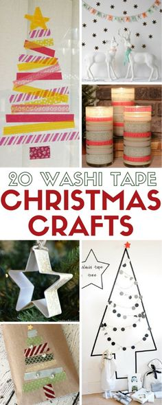 Craft this holiday season with these 20 Washi Tape Christmas Craft ideas. Easy DIY craft tutorials from seasonal decor to gift wrapping.