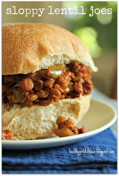 Sloppy lentil joes,  This was actually really easy and delicious and my kids and husband ate it.  I even enjoyed the leftover.  Will make again for sure.