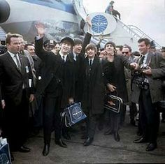 The Beatles flew in Pan Am for their first trip to America #PanAm #Beatles