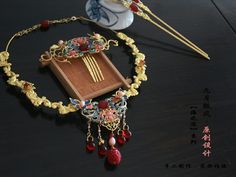 _shared by janejane4318@hotmail.com_ Girls Necklaces, Jewelry Necklaces, Chinese Hairpin, Rock Necklace, Tattoo Machine, Bullshit, Chinese Style, Hair Pins, Jewelry Art