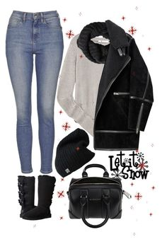 """""""it is snowing"""" by ecem1 ❤ liked on Polyvore featuring Topshop, T By Alexander Wang, H&M, UGG Australia, Givenchy, women's clothing, women's fashion, women, female and woman"""