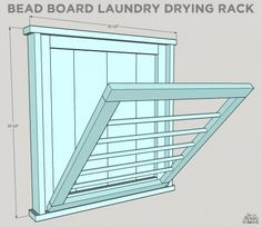 How To Build a DIY Ballard Designs Laundry Drying Rack More