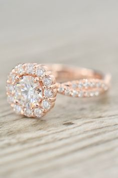 ad311514c6833 163 Best Pavé Engagement Rings images in 2019 | Halo rings ...
