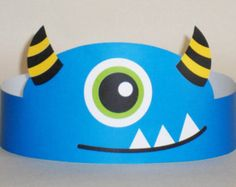 Monster Paper Crown Printable by PutACrownOnIt on Etsy Monster 1st Birthdays, Monster Birthday Parties, Birthday Party Hats, Happy Birthday Parties, Monster Party, Diy For Kids, Crafts For Kids, Crown Printable, Paper Crowns