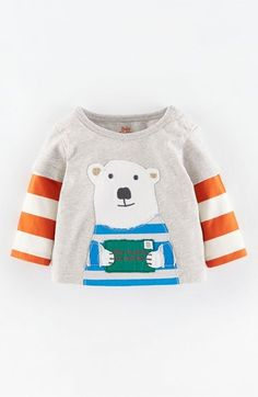Mini Boden Appliqué Layer Look T-Shirt (Baby Boys) at Nordstrom
