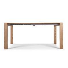 La table rectangulaire Bramante à rallonges est d'un design minimaliste.