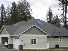 A single collector Solar Hot Water system we installed on a home in Cowachin Bay. Looks just like a skylight. :)