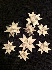 The Norwegian Nest: Folded paper stars - brettede papirstjerner