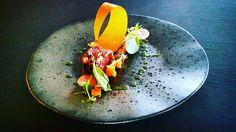Terrine van runder pastrami | portobello | wortel | bataat | basilicum #restaurantweek2016