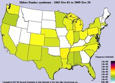 US distribution  Ehlers-Danlos syndrome  (Georgia should have more though)
