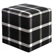 Henderson Puff - 2 stk. Home Living, Outdoor Furniture, Outdoor Decor, Ottoman, Chair, Polyvore, Interior Ideas, Home Decor, Black Furniture
