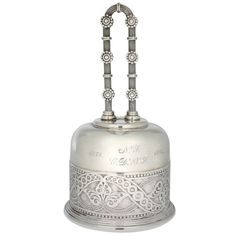 Aesthetic Movement Tiffany Sterling Silver Bell  United States  1884  This is a great example of early Tiffany. This is a dinner bell with wonderful details in the bell and handle.