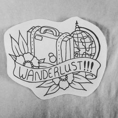 suitcase travel tattoos - Google Search More