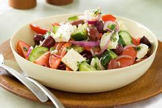 #Sunday #ChillDay #GreekSalad #WithRichFlavors — at Mezzaluna.