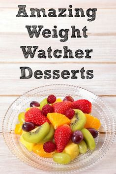 These Weight Watchers Dessert recipes are a great way to enjoy a treat without breaking your point allowance but satisfy your sweet tooth at the same time! Ww Desserts, Healthy Desserts, Dessert Recipes, Healthy Recipes, Healthy Meals, Breakfast Recipes, Light Desserts, Healthy Dishes, Fruit Recipes