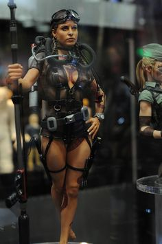 2013 San Diego Comic-Con (SDCC) - Gentle Giant Mercenary Garage: scuba Girl sexy and badazz Military Action Figures, Custom Action Figures, Gi Joe, Dibujos Pin Up, Character Art, Character Design, Cosplay Anime, Modelos 3d, Fantasy Miniatures