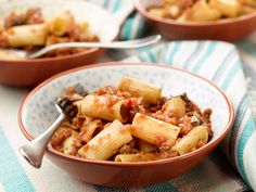 Rigatoni with Vegetable Bolognese recipe from Giada De Laurentiis via Food Network