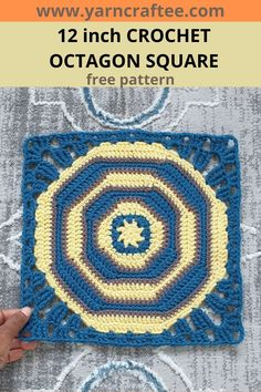 This 12 inch crochet octagon square is a fun and eclectic design that can be used for ponchos, bags, blankets even shawls. Try it! Crochet Designs, Crochet Patterns, Granny Square Blanket, Eclectic Design, Crochet Squares, Shawls, Blankets, Free Pattern, Stitch