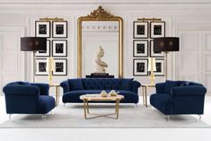 Art Deco Living Room, Living Room Sets, Living Room Interior, Living Room Designs, Sofa Design, Interior Design, Decoration Chic, Living Room Decor Inspiration, Contemporary Chairs