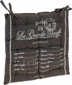 Poduszka na krzesło Paris szara - BelleMaison.pl Telephone, Herbalism, Bags, Herbal Medicine, Handbags, Taschen, Phones, Purse, Purses