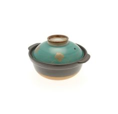 "New 6.5"" Emerald Green w/Gold Donabe/Casserole — Seito 
