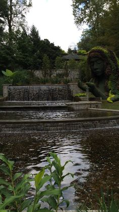 The pools at the goddess topiary