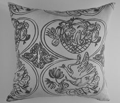 Bird & Basket Cushion Neutral Colors, Colours, Best Sellers, Basket, Cushions, Tapestry, Throw Pillows, Bird, Luxury
