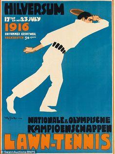 Lawn Tennis / Nationale & Olympische Kampionschappen /Hilversem (1916), by Willy Sluiter, etimated at $4,000 - $6,000
