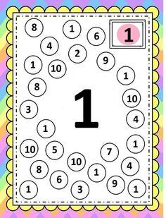 Preschool Number Worksheets, Fun Worksheets For Kids, Shapes Worksheet Kindergarten, Numbers Preschool, Preschool Learning Activities, Preschool Lessons, Preschool Math, Math For Kids, Math Lessons