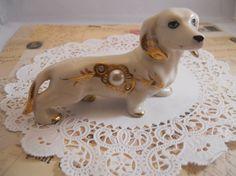 Vintage Japanese Dachshund Mini Dachshund, Weenie Dogs, Doggies, Collectible Figurines, Vintage Japanese, Dog Life, Best Dogs, Dachshunds, Fur Babies