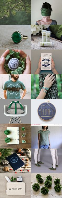 Gift Guide in Green by Maria Bradley on Etsy--Pinned with TreasuryPin.com #shopsmall #giftguide #christmas #gifts #shoponline #giftideas