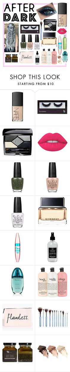 """Green and gray"" by shelbs1234 ❤ liked on Polyvore featuring beauty, NARS Cosmetics, BBrowBar, Christian Dior, Lime Crime, OPI, Givenchy, Maybelline, Little Barn Apothecary and Calvin Klein"