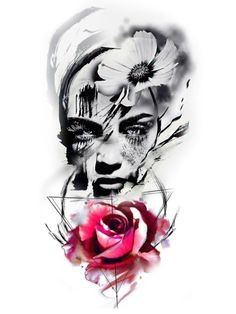 Drug Tattoos, Hd Tattoos, Finger Tattoos, Skull Tattoos, Sleeve Tattoos, Diy Tattoo, Trash Polka Frau, Tatuagem Trash Polka, Photoshop Tattoo