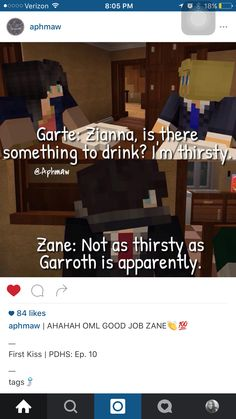 Garroth looks like he is going to smack zane in the next secene