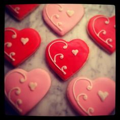 valintine cookies iced | Cookies for your Valentine...the royal icing recipe is Royal Icing III ...