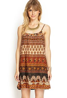Printed Drop-Waist Cami Dress From Forever 21. NWT. Really cute but not sure if I will wear often enough. limited swap or will sell for what I paid (or best offer!).