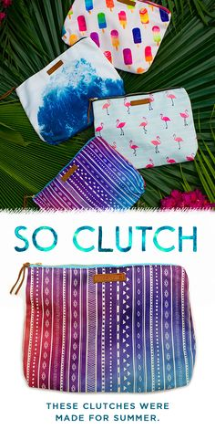 "Get summer ready with our new collection of beach clutches! Carry all of your beach essentials with you for a fun day in the sun and make a splash with our water-resistant interior! Use code ""PV20"" for 20% off your order. Live Free and join the Pura Vida movement today!"