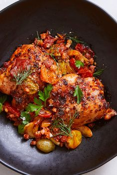 Sheet-Pan Chicken With Jammy Tomatoes and Pancetta Recipe - NYT Cooking Popular Recipes, New Recipes, Cooking Recipes, Dinner Recipes, Favorite Recipes, Healthy Recipes, What's Cooking, Dinner Ideas, Healthy Food