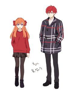 Sakura and Mikorin from Gekkan shoujo Nozaki-kun Anime Couples, Cute Couples, Monthly Girls' Nozaki Kun, Gekkan Shoujo Nozaki Kun, Anime Outfits, Cartoon Styles, Me Me Me Anime, Anime Manga, True Love