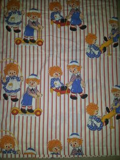 #Vintage Raggedy Ann And Andy  Flat Sheet  And #Matching #Pillowcase Reclaimed Be,  View more on the LINK: 	http://www.zeppy.io/product/gb/3/260649711/