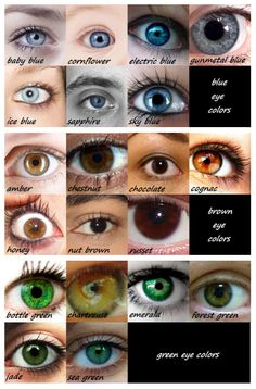 Brown, Green then Blue Eye Color Charts Hair Color Chart,