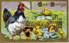 Vintage Embossed Easter Holiday Greetings Postcard - Purchase Antique & Vintage Easter Cards on Ruby Lane $9.00