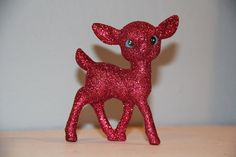 Glitter holiday deer. Buy one if you don't have time to make your own christmas decorations.