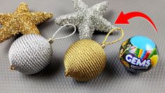 Low budget Christmas Craft idea with recycled materials | Best out of wa... Christmas On A Budget, Christmas Crafts, Cadbury Gems, Wall Hanging Crafts, Bead Caps, Recycled Materials, Crochet Earrings, Recycling, Diy Crafts