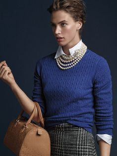 A Modern Take on Timeless Classics classy preppy Unmistakably Brooks Mode Outfits, Office Outfits, Fashion Outfits, Womens Fashion, Office Attire, Work Attire, Preppy Fashion, Office Wear, Queer Fashion