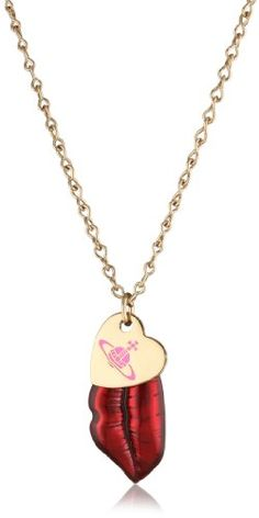 Vivienne Westwood Valentines Mouth Red Pendant Necklace.