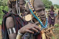 mursi scarifications . Ethiopia