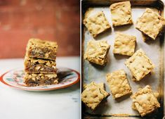 Brown Butter Blondies with Chocolate, Cherries, Cashews and Pecans