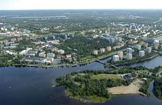 Oulu by the River Oulu and the Gulf of Bothnia, Finland