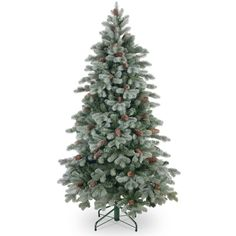 4.5ft Frosted Colorado Spruce Slim Feel-Real Artificial Christmas Tree